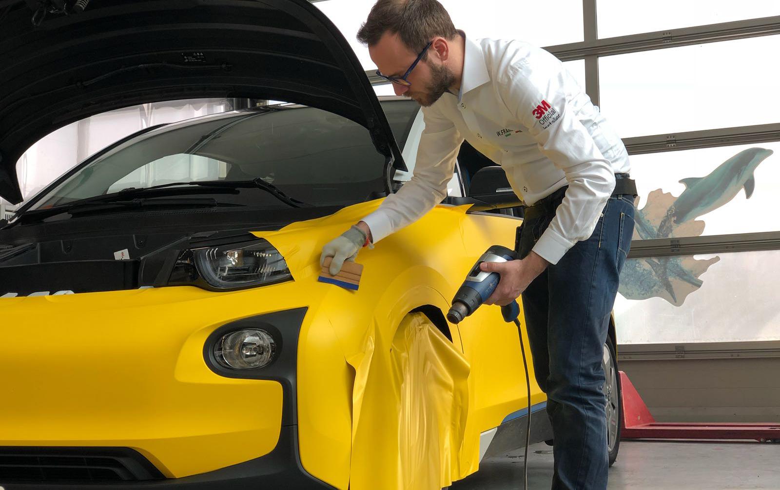 cambiare colore auto con pellicola wrapping 3M